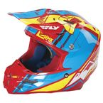 Red/Blue HMK F2 Carbon Cross Helmet - 73-4927S