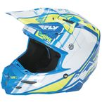 Blue/Hi-Vis HMK F2 Carbon Cross Helmet - 73-4928M