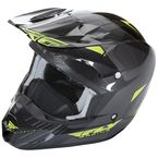 Hi-Vis/Black Kinetic Pro Cold Weather Helmet - 73-4937S