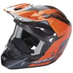 Orange/Black Kinetic Pro Cold Weather Helmet - 73-4938X