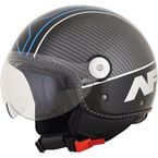 Gloss Black/Blue Veloce FX-33 Scooter Helmet - 0106-0711