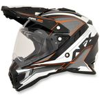 Orange FX-41DS Dual Sport Eiger Helmet - 0110-4962