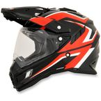 Black/Red/White FX-41DS Dual Sport AT Helmet - 0110-4974