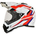 White/Red/Blue FX-41DS Dual Sport AT Helmet - 0110-4986