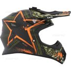 Matte Green/Orange TX 707 Carbon Fiber Helmet - 504725