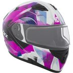 Pink/Black/White Flex RSV Flake Snow Modular Helmet - 505982
