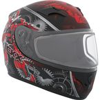 Youth Black/Red/Gray RR610Y Mecanic Snow Helmet - 506294