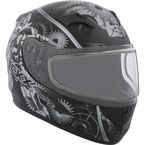 Youth Black/Gray RR610Y Mecanic Snow Helmet - 506314