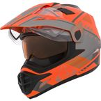 Matte Orange/Gray Quest RSV Ridge Adventure Helmet w/Electric Shield - 506582