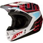 Gray/Red V1 Falcon Helmet - 17351-037-L