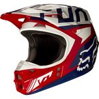 Red/White V1 Falcon Helmet - 17351-054-L