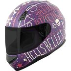Matte Purple/Cream SS700 Hell's Belles Helmet - 884393