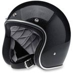 Midnight Black Mini Flake Bonanza Helmet - BHMIDGLMINLRG