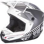 Youth Matte White/Gray Kinetic Elite Onset Helmet - 73-8500YL