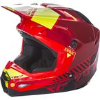 Red/Black/Hi-Vis Kinetic Elite Onset Helmet - 73-8502L