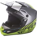 Youth Matte Black/Gray/Hi-Vis Kinetic Elite Onset Helmet - 73-8505YL