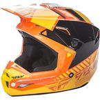 Youth Orange/Yellow Kinetic Elite Onset Helmet - 73-8506YS