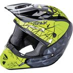 Youth Black/Gray/Hi-Vis Kinetic Crux Helmet - 73-3385YL