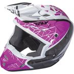 Youth Pink/Black/White Kinetic Crux Helmet - 73-3389YL