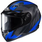 Flat Black/Gray/Blue CS-R3 Treague MC-2F Snow Helmet w/Framed Dual Lens Shield - 55-19226