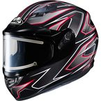Black/Gray/Red CS-R3 Spike MC-1 Snow Helmet w/Framed Electric Shield - 55-29116