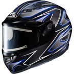 Black/Gray/Blue CS-R3 Spike MC-1 Snow Helmet w/Framed Electric Shield - 033-921