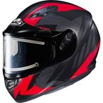 Flat Black/Gray/Red CS-R3 Treague MC-1F Snow Helmet w/Framed Electric Shield - 55-29216