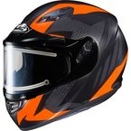 Flat Black/Gray/Neon Orange CS-R3 Treague MC-6F Snow Helmet w/Framed Electric Shield - 035-864