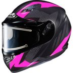Flat Black/Gray/Pink CS-R3 Treague MC-8F Snow Helmet w/Framed Electric Shield - 55-29286