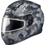 Flat Dark Gray/Light Gray CL-17 Void MC-3HF Snow Helmet w/Frameless Electric Shield - 57-29656