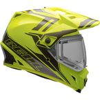 Yellow/Titanium MX-9 Adventure Barricade Snow Helmet w/Electric Shield - 7075803