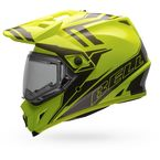 Yellow/Titanium MX-9 Adventure Barricade Snow Helmet w/Electric Shield - 7075802