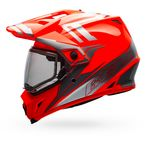 Orange/Silver MX-9 Adventure Barricade Snow Helmet w/Dual Lens Shield - 7075983