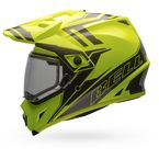 Yellow/Titanium MX-9 Barricade Snow Helmet w/Dual Lens Shield  - 7075993