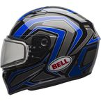 Blue/Titanium Qualifier Machine Snow Helmet w/Dual Lens Shield  - 7076034