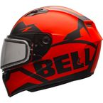 Matte Orange/Black Qualifier Momentum Snow Helmet w/Dual Lens Shield - 7090706