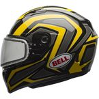 Yellow/Titanium/Black Qualifier Machine Snow Helmet w/Dual Lens Shield  - 7076118