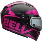 Matte Pink/Black Qualifier Momentum Snow Helmet w/Electric Shield - 7076188