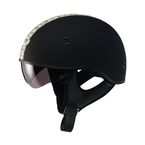 Flat Black/Antique White GM65 Naked Half Helmet - G1652078