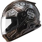 Youth Black/Silver GM49 DJ Snow and Street Helmet w/Two Shields - G7492242 TC-5