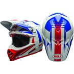 White/Blue/Red Moto-9 Flex Vice Helmet - 7080732