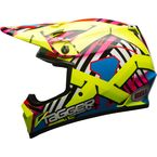 Hi-Viz/Red MX-9 Tagger Double Trouble Mips Helmet - 7080814