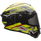 Black/Yellow Star Isle of Man Helmet - 7081476