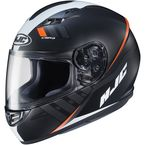 Semi-Flat Black/White/Red CS-R3 Space MC-7SF Helmet - 136-774