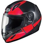 Youth Semi-Flat Black/Red/Gray CL-Y Boost MC-1SF Helmet - 236-714