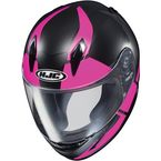 Youth Semi-Flat Black/Pink/Gray CL-Y Boost MC-8SF Helmet - 236-784