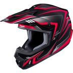 Black/Red/Gray CS-MX II Edge MC-1 Helmet - 326-914