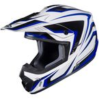 White/Blue/Black CS-MX II Edge MC-2 Helmet - 326-924