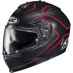 Semi-Flat Black/Red IS-17 Lank MC-1SF Helmet - 596-714