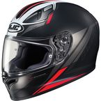 Semi-Flat Black/Red FG-17 Valve MC-1SF Helmet - 638-714